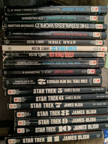 Primary image for Lot of 17 Star Trek Books (Bantam Books/James Blish) from 70's-90's
