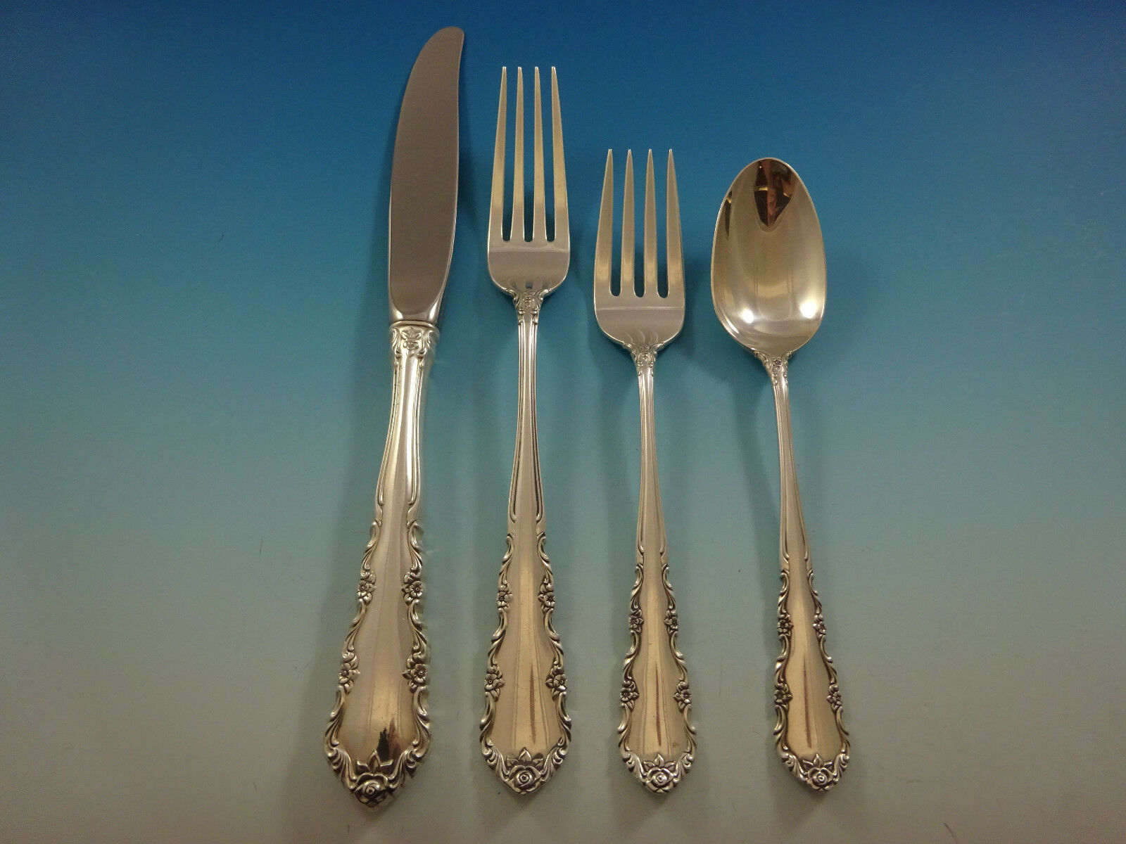 Shenandoah by Wallace Sterling Silver Flatware Set For 12 Service 57 Pieces image 2