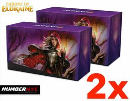 2x MTG Throne of Eldraine EMPTY Fat Pack Storage Box Holds Cards Magic Gathering - $19.79