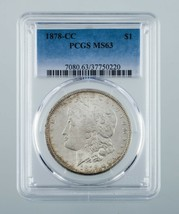 1878-CC $1 Silver Morgan Dollar Graded by PCGS as MS-63! Key Date! - $470.25
