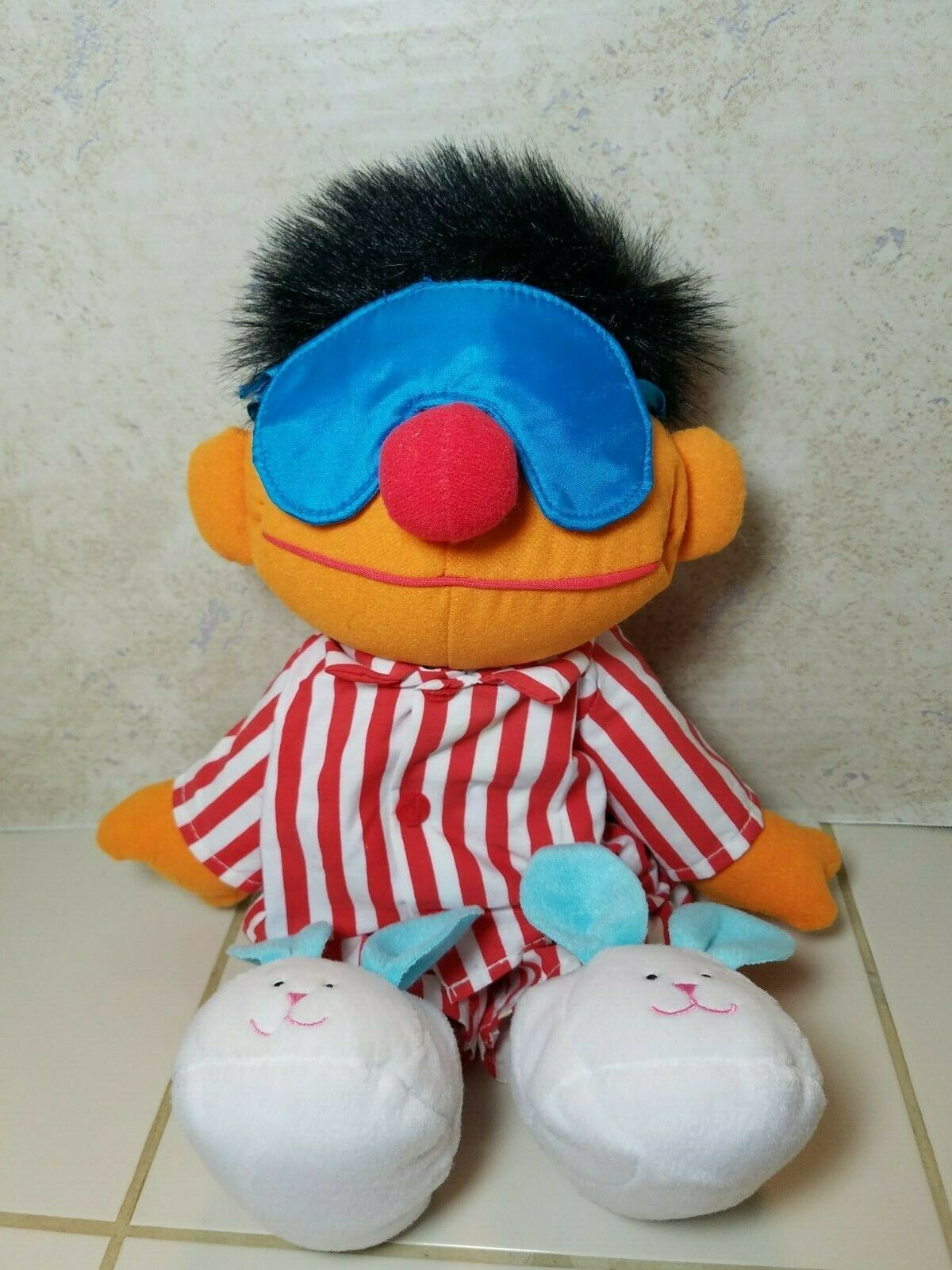 "TYCO Sesame Street Sleep And Snore Ernie 1996 Plush Doll 18"" Jim Henson Muppet image 11"