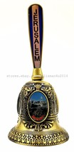 New BRASS METAL BELL Panoramic Views of Jerusalem Old City Holy Land Gif... - $12.11