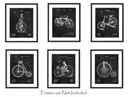 "6 Bicycle Patent Wall Art Prints - 8""x10"" - Bike Decor - Cycling Cyclist Gifts - $18.95"