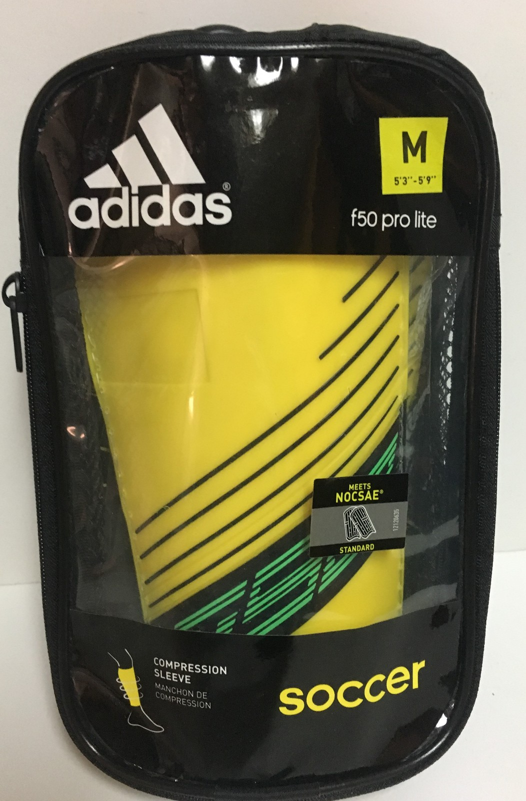 Adidas f50 Pro Lite Soccer Compression Sleeve Protection Shield Sz M