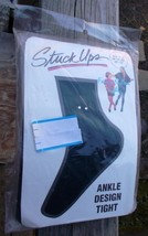 ~~ Vintage Stuck Ups ~~ Girls Nylon Tights W/Gem Decorations ~ Size 7-10... - $4.00