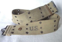 U.S.Army Canvas Web Belt Worn In Korea 1953 - $9.99