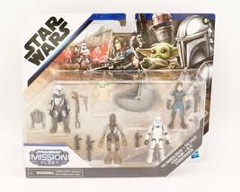 Star Wars Mission Fleet Defend the Child Mandalorian 5 Action Figure Set... - $29.95