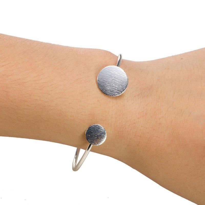 Small and Big Scratch Round Bracelets Bangles Unique Geometric