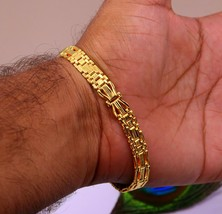 22 CARAT YELLOW GOLD HANDMADE AMAZING STYLISH SOLID BRACELET JEWELRY  IN... - €1.758,95 EUR