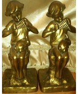 Jennings Brothers vintage 1930's brass bookends  - $233.74