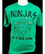 Teenage Mutant Ninja Turtle TMNT Ninjas Do It With Stars Green Men's T-S... - $9.95
