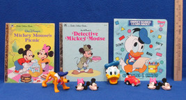 Disney Mickey Minnie Mouse Donald Duck Rings Toys Little Golden Books  Lot of 10 - $12.86