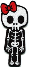 Skull skeleton goth punk emo horror biker applique iron-on patch new S-261 - $3.06