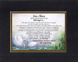 Personalized Touching and Heartfelt Poem for Wedding - Marriage Is Poem ... - $22.72