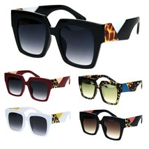 Womens Thick Horn Rim Plastic Retro Fashion Sunglasses - $12.95