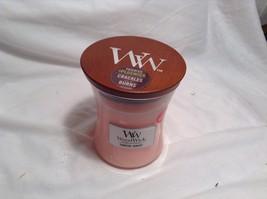 NEW WoodWick Coastal Sunset Pink Candle w Wood lid