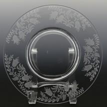 Tiffin Fuchsia Elegant Glass Plate Luncheon Plates a set of 8 image 2