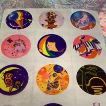 TWO Partial Lisa Frank Sticker Sheets S101 1st Sheet Only One Missing Sticker image 4