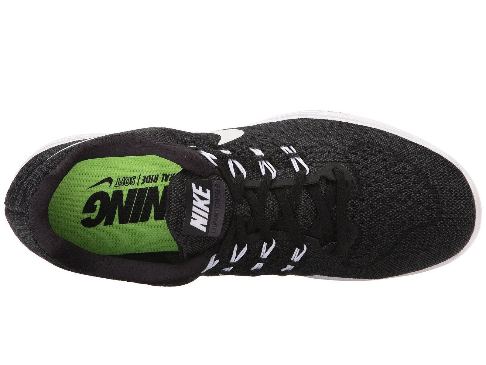 Men's Nike LunarTempo 2 Running Shoes, 818097 002 Sizes 10-13 Black/White/Anthra
