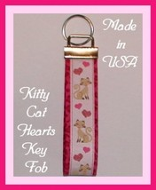 Siamese Cat Key Chain Ring Pink Tan Brown Kitty... - $5.95