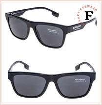 BURBERRY 4293 Vintage London Black Geometric Sunglasses BE4293S Authentic - $177.21