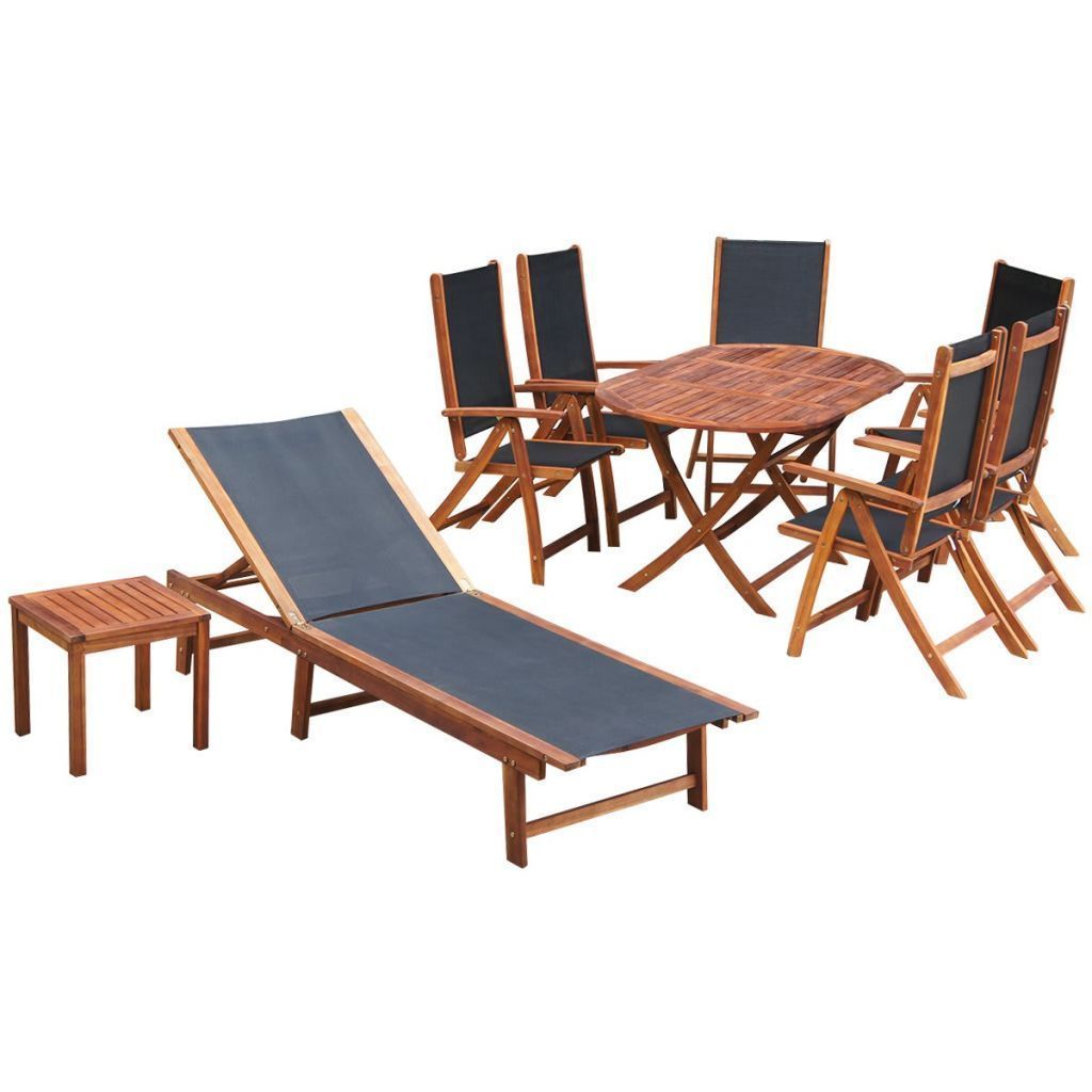 vidaXL Outdoor Furniture Set 9 Pieces Patio Wicker Dining Table Chairs Lounge
