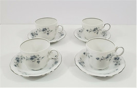 Johann Haviland Blue Garland Coffee Cups and Saucers Set of 4 - $24.40