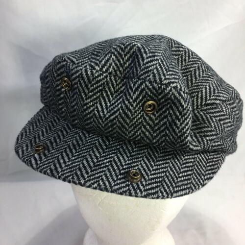 DORMAN PACIFIC DPC Gatsby Newsboy Cabbie Hat Cap Herringbone Wool Blend Medium image 8