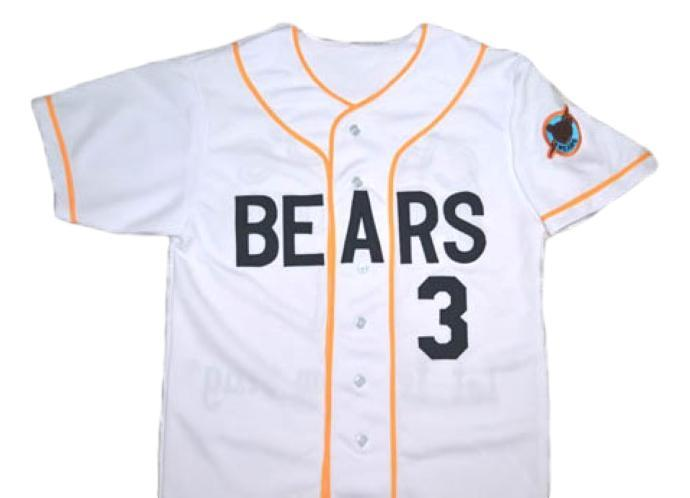 Bad news bears movie  3 button down new men baseball jersey white 1