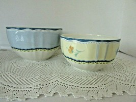 Lenox Provecal Garden Set Of 2 Stackable Bowls With Lids Vg - $33.66