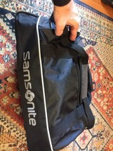 Samsonite Duffle Bag 21 inch Black Gray Travel With Shoulder Strap image 2