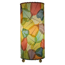 Eangee Home Design Fossilized Banyan Leaves Multicolor Hand-stitched Tab... - £98.95 GBP