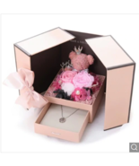 Sweetheart Bear Double Door Gift Box Toy Valentine's Day Gift - Pink - $45.99