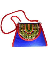 Zonnie Zania Indian Embroidered Medium Purse Blue - $31.20
