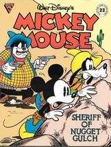 Walt Disney's Gladstone Comic Album #22 Mickey Mouse Sheriff Nugget Gulch FINE+ - $4.99