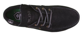 LRG Mangrove Black Leather Suede Boat Shoes Size 9 42 EUR NIB image 6