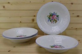 Tabletops Unlimited Victorian Rose (4) Soup / Cereal Bowls Floral Design - AA73 - $19.34