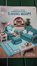 American School of Needlework #3085 Plastic Canvas Fashion Doll Living Room - $9.50