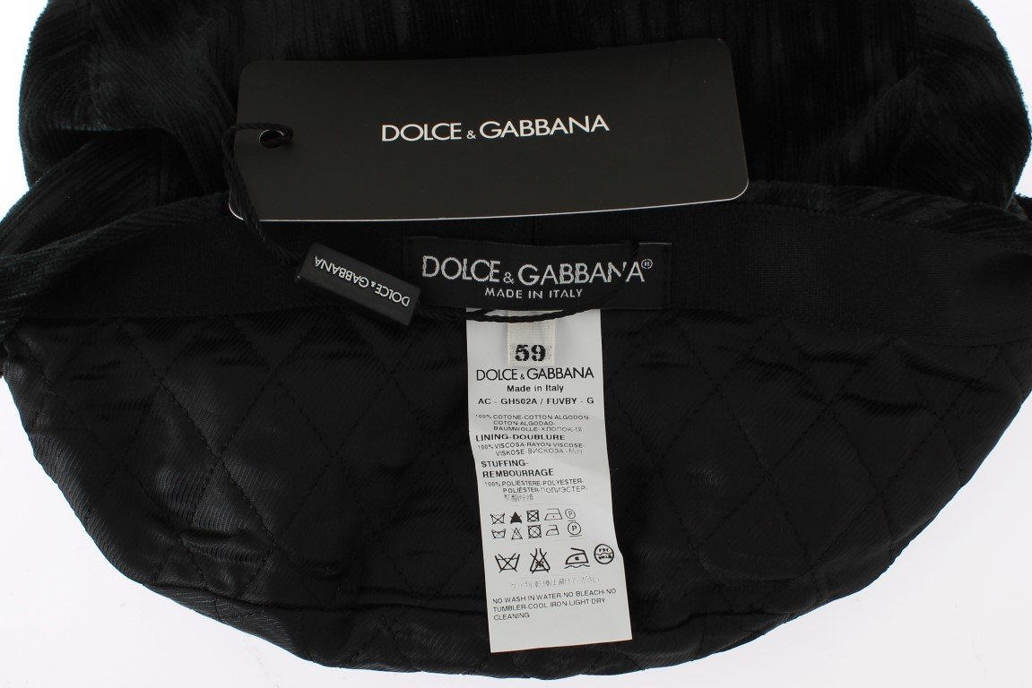 Dolce & Gabbana Gray Cotton Newsboy Hat