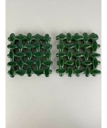 Berardos Pot Oven Trivets Ceramic Weave Green Made in Portugal - $98.99