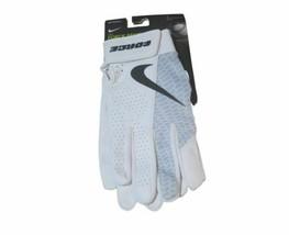 Nike Force Edge Batting Gloves Men's Large Game White Baseball Batting Leather - $32.66