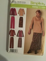 Simplicity Sewing Pattern 4886 Tunic Top Skirt Pant 20W-28W New Package ... - $12.62