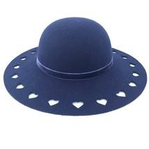 Gymboree Plum Pony Brim Hat 6-12 MO NEW Blue Felt Heart Floppy Dressed Up Easter - $24.64