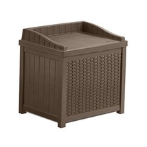 Resin Wicker Storage Seat 22-Gallon Outdoor Back Yard Patio Garden Furni... - $54.30