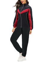 Women's Casual Jogger Gym Fitness Running Working Out Straight Leg Tracksuit Set image 6