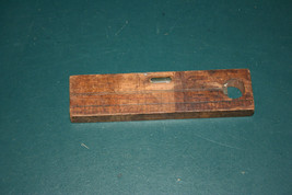 Vintage 6 inch Wooden Level  2 tube   Czechcslovakia - $6.93