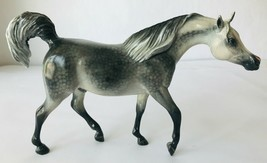 Breyer Custom Signed BSM Classic Model Horse Dapple Grey Arabian Stallio... - $120.94