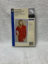 "1/2"" Covered All-Purpose Shoulder Pads 2/Pkg White 072879256291 - $7.91"