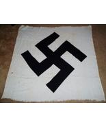 HUGE ORIGINAL WW2 GERMAN NSDAP SWASTIKA FOR GOVT/ ADMIN. FLAG, ID'D VET ... - $350.00