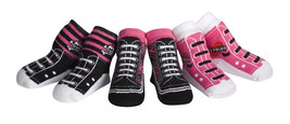 Jazzy Toes Rock Chick Kicks Socks-Gift Set-3 Pair-Size 12 to 24 Months-W... - $15.19